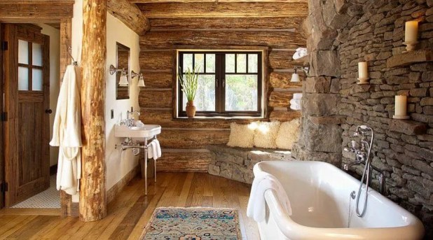 Cottage Inspired Rustic Bathroom