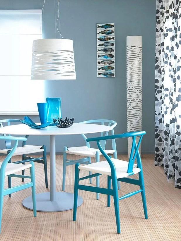 Refreshing  Blue Dining Room