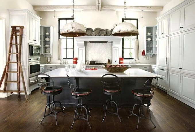 Rustic Black and White Kitchen