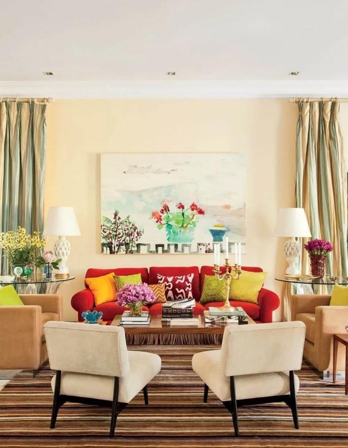 Vibrant summer living room