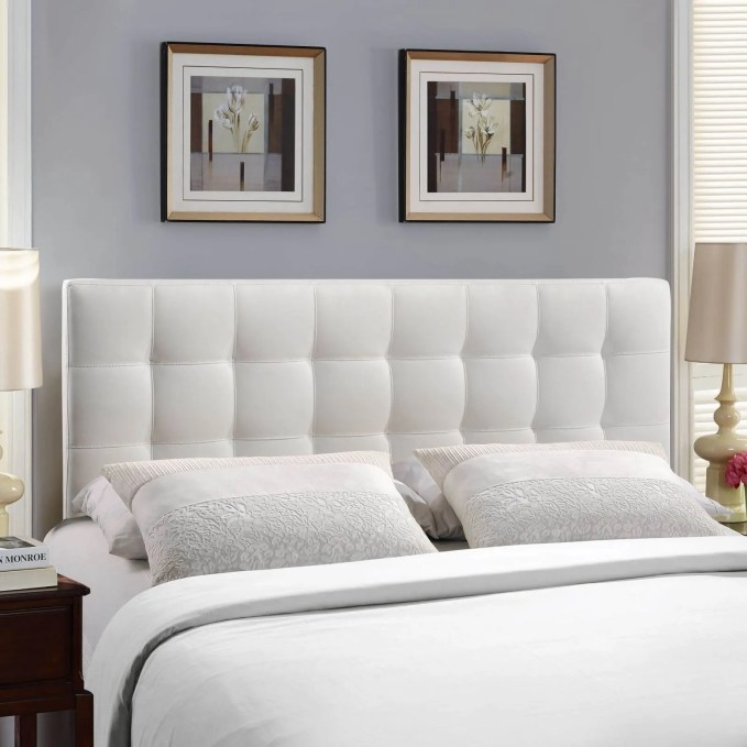 modern tufted headboard