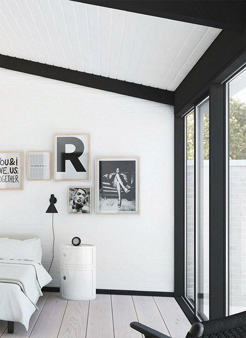 Zwart wit slaapkamer  Interieur Insider