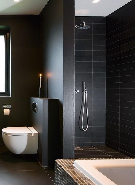 Zwarte badkamer  InteriorInsidernl