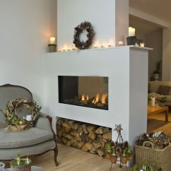 How To Decorate A Long Living Room With Fireplace In The Middle Top Colors 2018 Houtblokken Opbergen - Interieur Insider