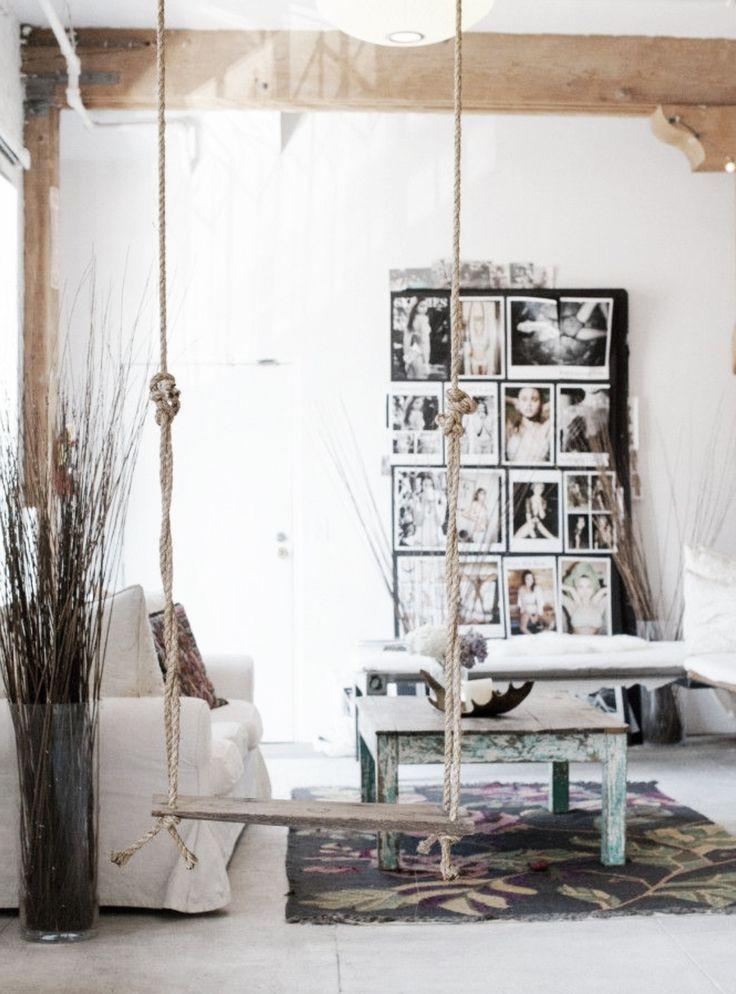 Schommel in huis  InteriorInsidernl