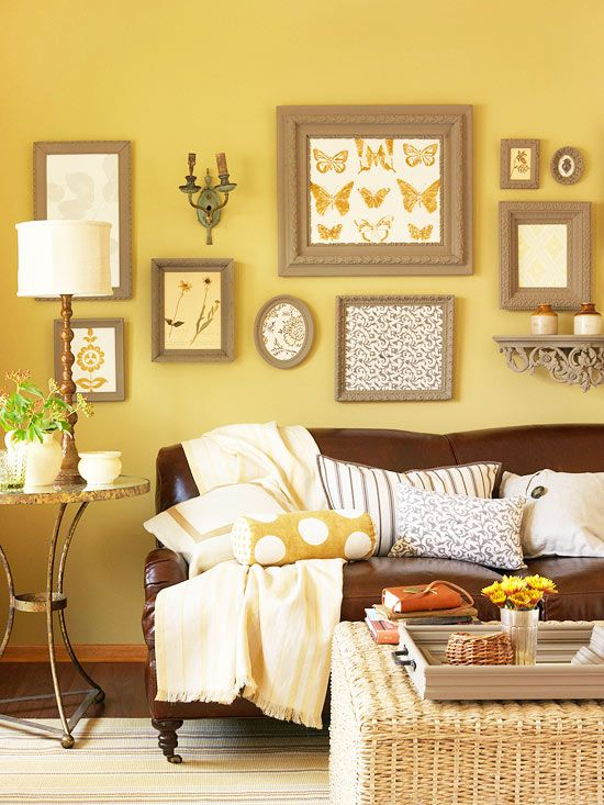 Gele woonkamer  Interieur Insider