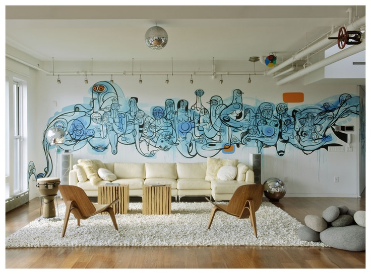 Graffiti thuis op de muur  InteriorInsidernl