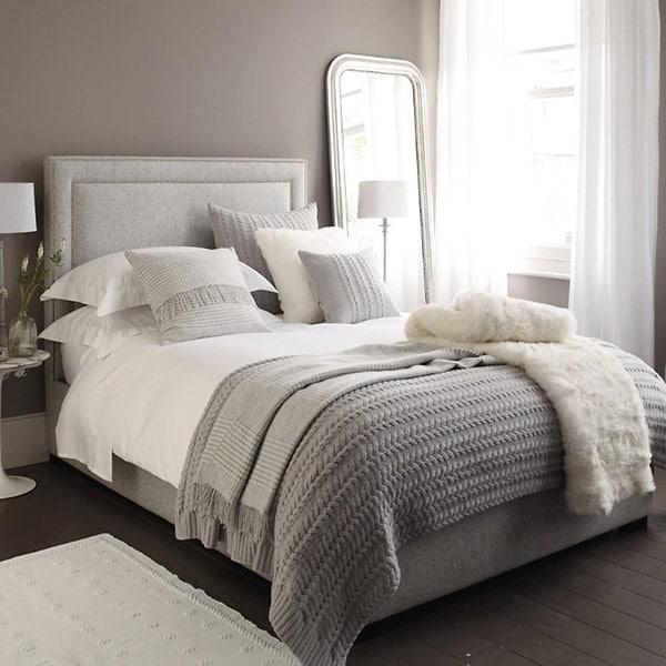 Grijze slaapkamer  InteriorInsidernl