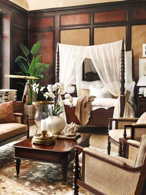 Koloniale slaapkamer  InteriorInsidernl