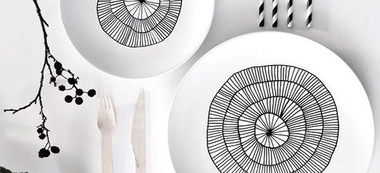 Zwart wit servies  Interieur Insider
