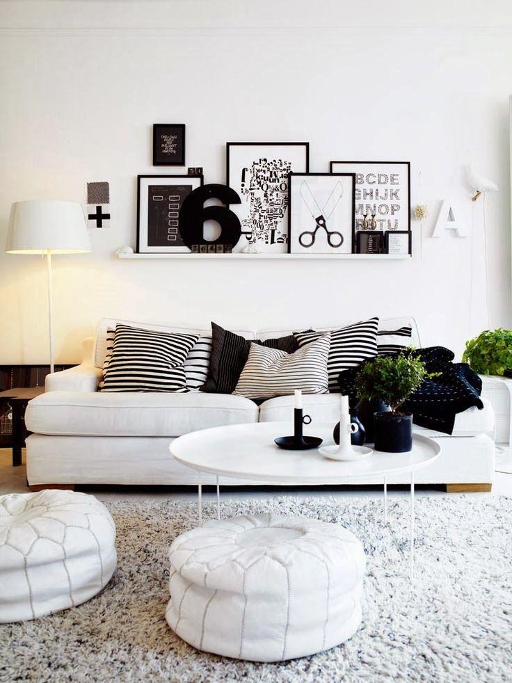Woonkamer zwart wit  Interieur Insider