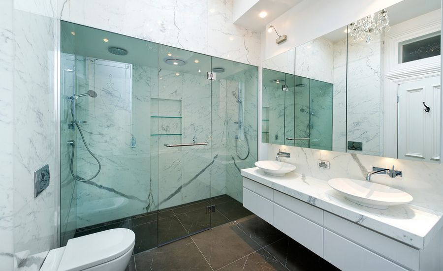 Calacatta Porcelain Tile Bathroom