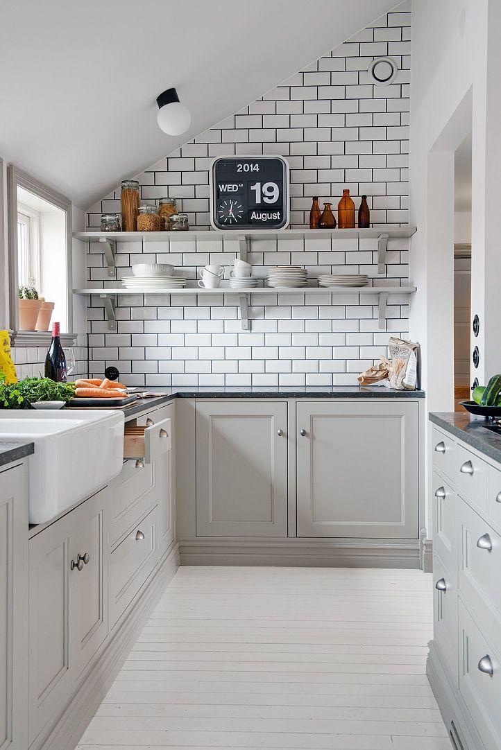 Grijze keuken  Interieur Insider
