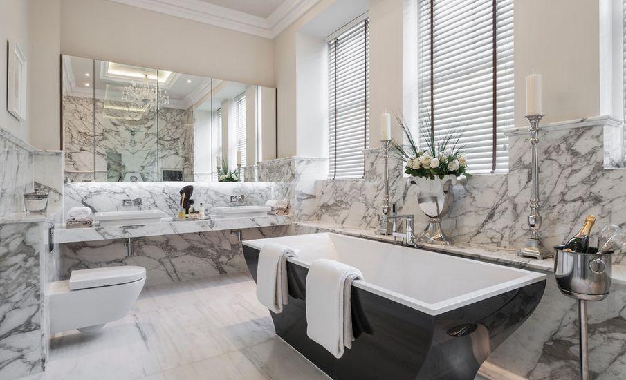 Marmer badkamer  Interieur Insider