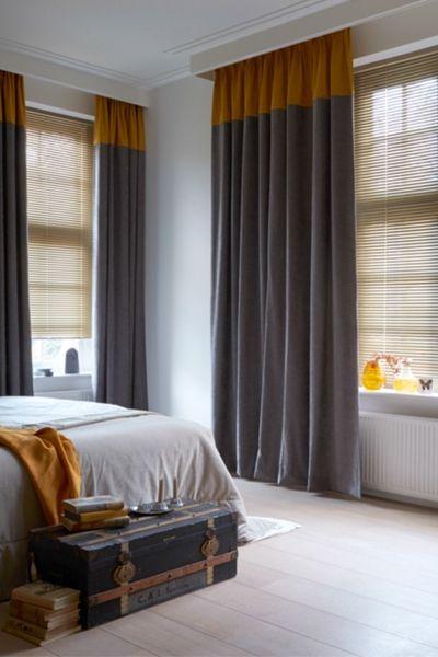 Donkere gordijnen in slaapkamer  InteriorInsidernl