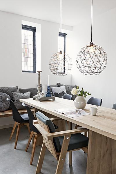 Lampen boven eettafel  Interieur Insider