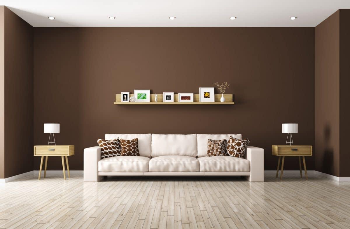 Bruine woonkamer  InteriorInsidernl