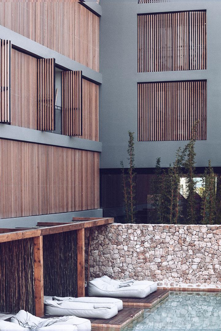Imagen arquitectura real estate Piscina privada para habitaciones en hotel casa cook Ibiza