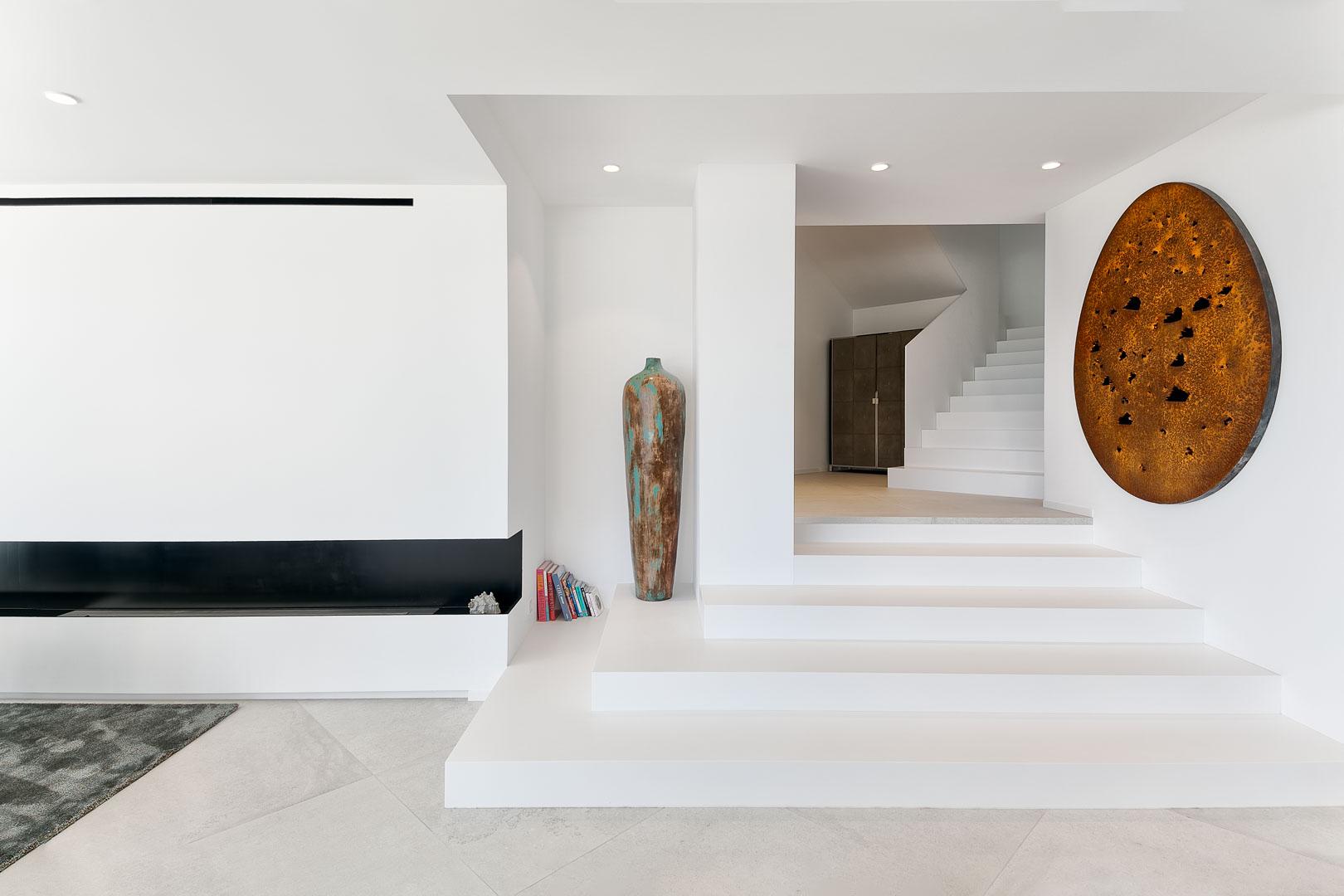 Imagen del recibidor interior de casa de campo real estate en Ibiza