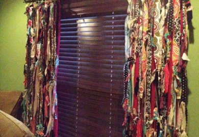 Curtains Made From Strips Of Fabric
