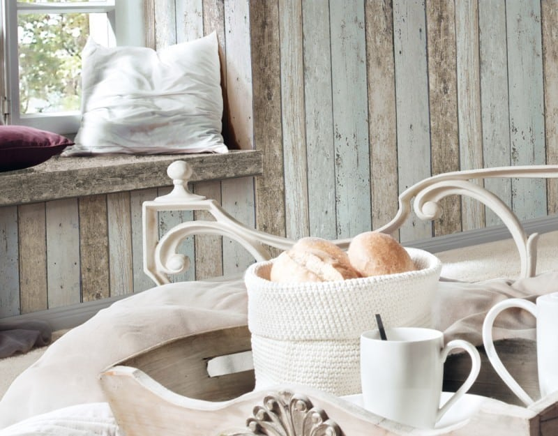 Steigerhout behang voorjaarsschoonmaak woonblog interiorqueen behangwebshop