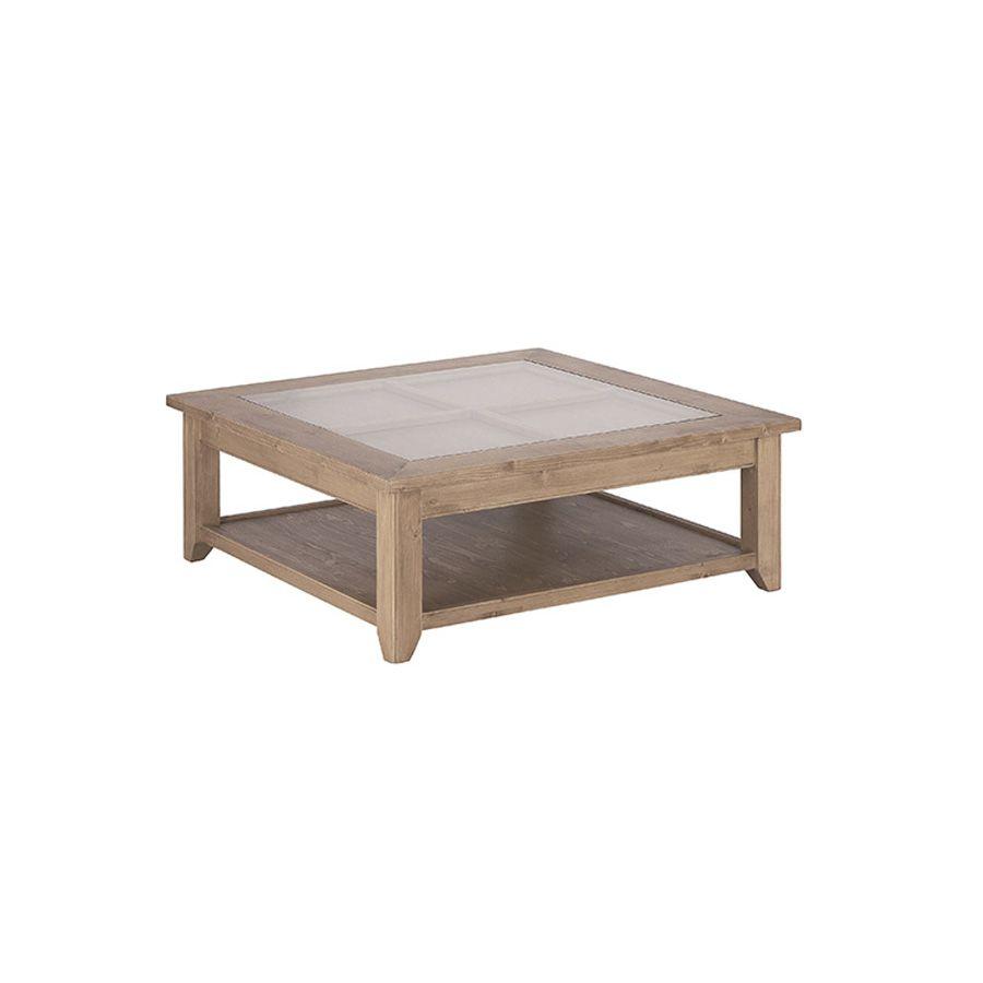table basse avec rangement en epicea first