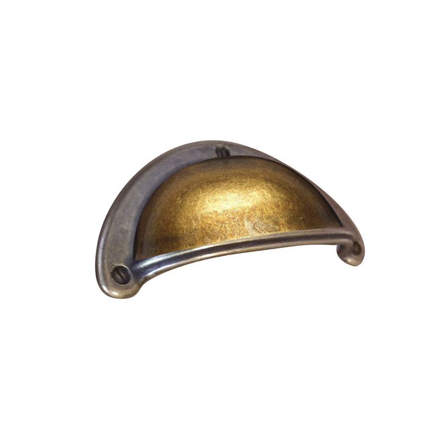poignee coquille de meuble en metal