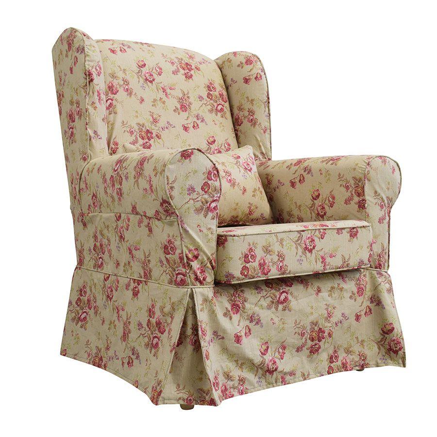 fauteuil en tissu tiffany fleuri claridge