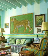 Bamboo and Exotic Green - Interiors By Color