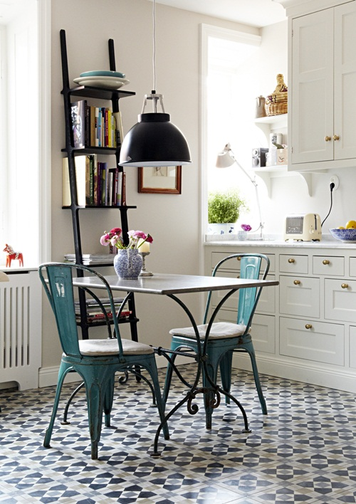 Teal French Bistro Seats  Interiors By Color