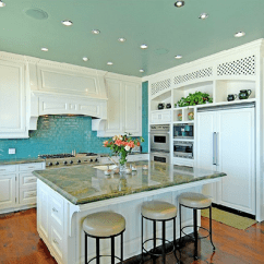 Ceiling Lights For Kitchen Electrics A Turquoise In Malibu - Interiors By Color