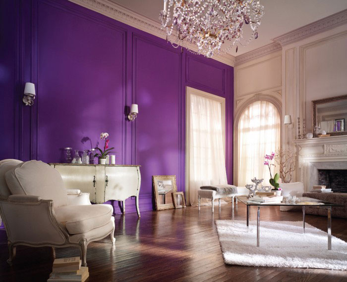 Glorious Purple Wall  Interiors By Color