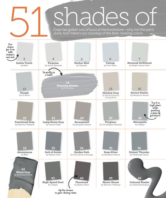 Ace royal paint color chart Shades of grey interior paint