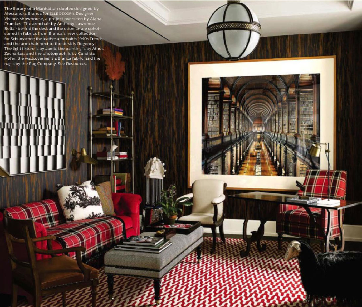 Reaching New Heights  Elle Decor December 2013  Interiors By Color