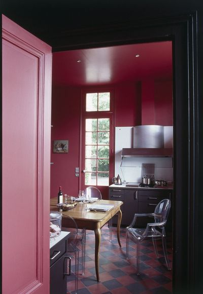 Dusty Pink And Grey Kitchen Interiors By Color