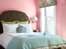 Pastel Bedroom in Pink, Blue and Green - Interiors By Color