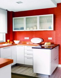 Red Walls in the Kitchen