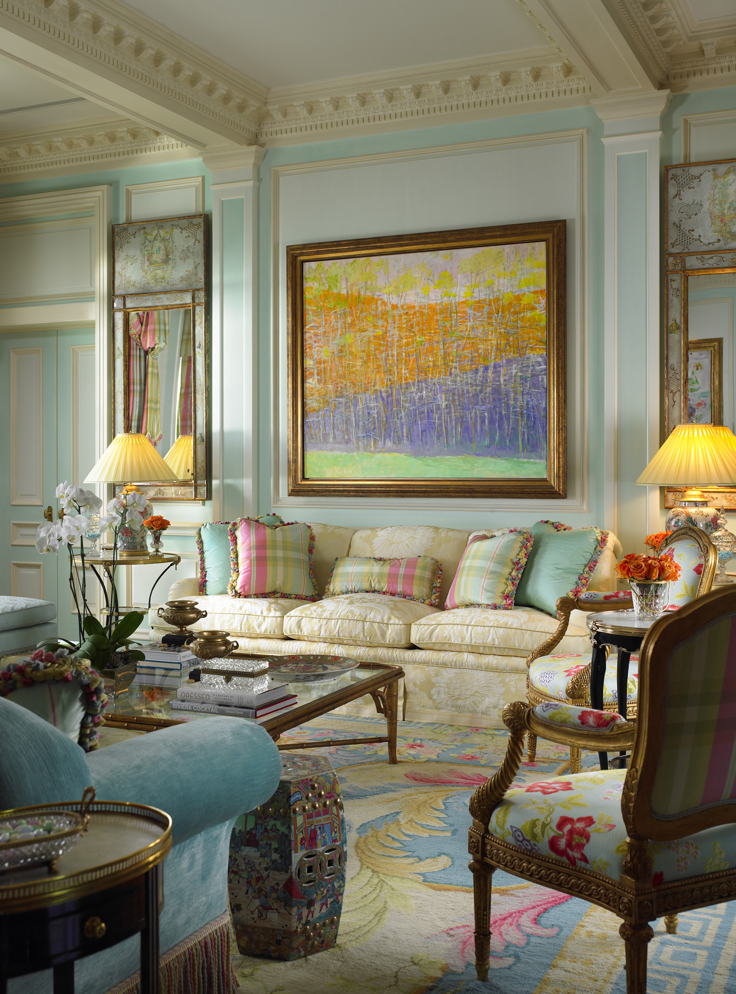 yellow and grey living room decorating ideas interior design 2016 scott snyder waterside palm beach fl home - interiors by color