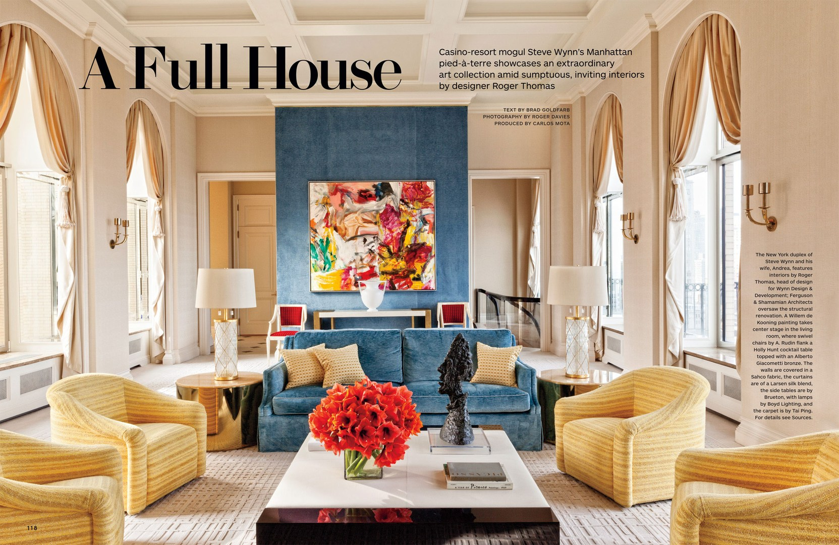 orange yellow and brown living room ideas sunroom full house - architectural digest march 2014 interiors ...