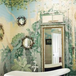 French Country Living Room Colors Couch And 2 Chairs Painted Garden Mural Bathroom - Interiors By Color