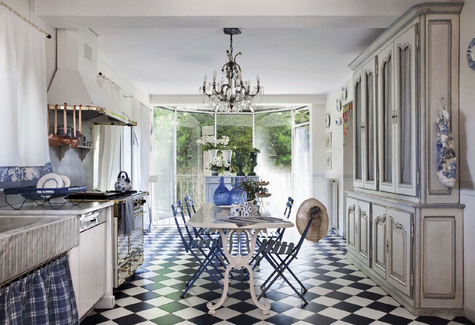 French Riviera Inspired Cottage Kitchen Interiors By Color