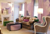 Purple, Pink and Green Living Art - Interiors By Color