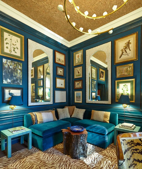 Teal and Peacock Living  Interiors By Color