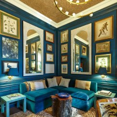 Royal Blue Living Room Chairs How To Design The Teal And Peacock - Interiors By Color
