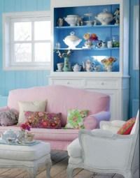 Shabby Chic Blue Living Room