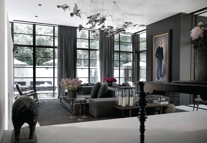 A Dark Hamptons Home  Interiors By Color