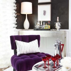 Owl Kitchen Rugs Cabinets Glam Purple - Interiors By Color