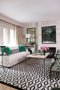 Geometry with Green Accents - Interiors By Color