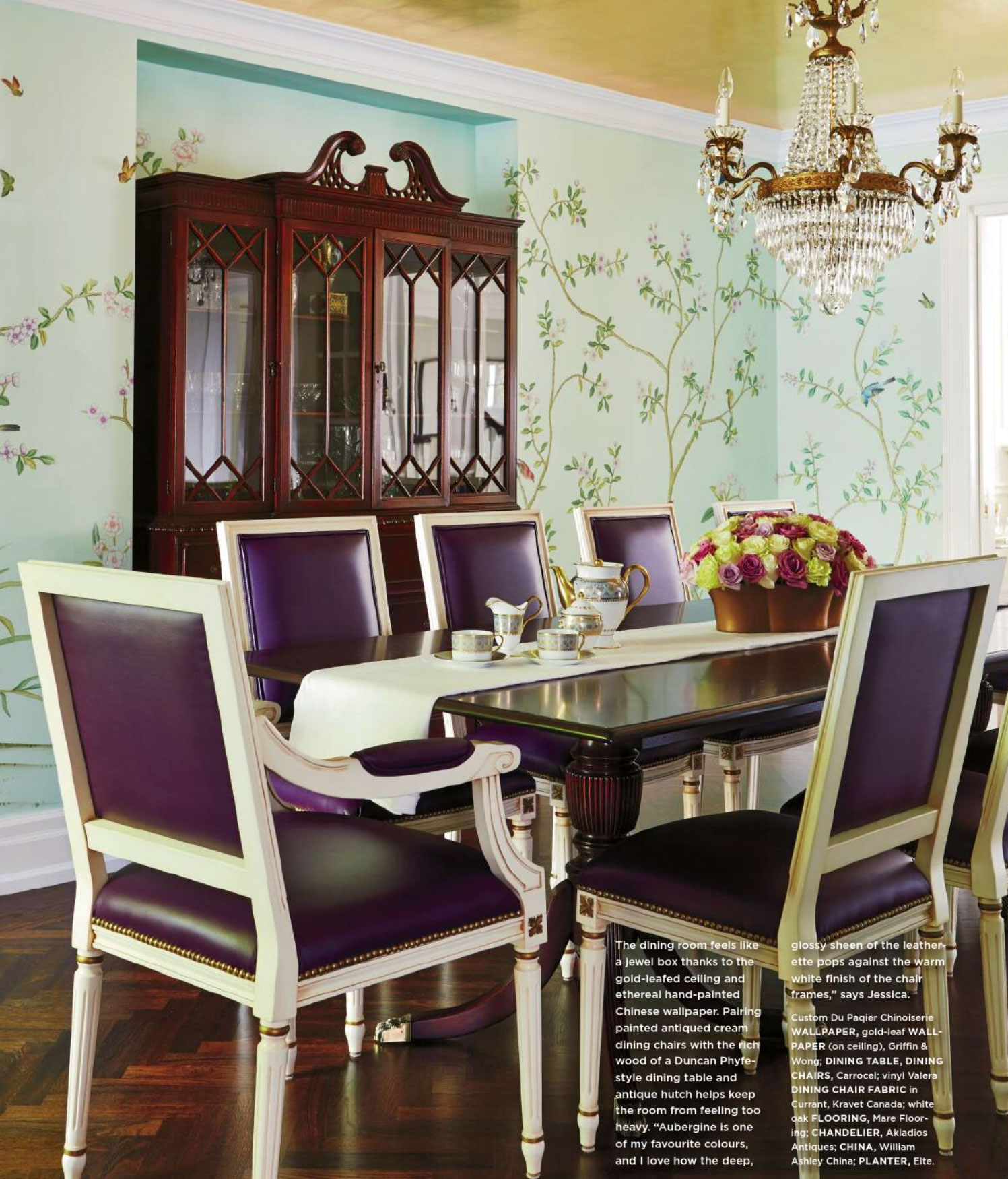 purple dining chairs canada mid century modern leather pure imagination interiors by color