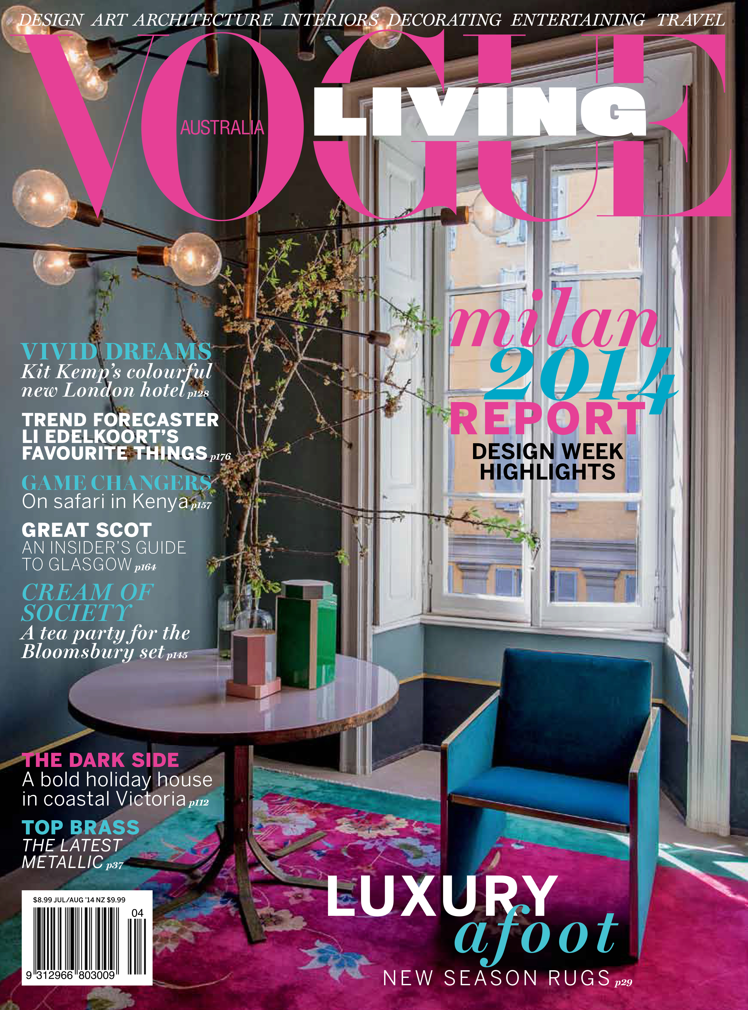 black and white kitchen table cart stainless steel top vogue living cover australia july august 2014 - interiors ...